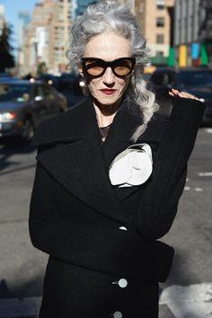 linda rodin, 66 years of seeking out beauty #streetstyle #lindarodin #advancedstyle
