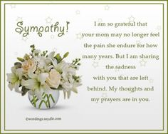 Sympathy Messages for Loss of