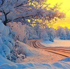 bluepueblo:  Snow Sunset, Norway photo via imgend