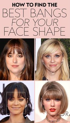 """The answer to """"Should I get bangs?"""" # Hairstyles with bangs These Are the Best Bangs for Every Face Shape, According to Stylists How To Cut Bangs, Long Hair With Bangs, Cut Side Bangs, How To Style Bangs, Long Hair Fringe, Side Fringe Bangs, How To Cut Fringe, Round Face Fringe, Thin Hair Bangs"""