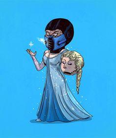 Elsa Unmasked #iconsunmasked by alexmdc http://ift.tt/1MdlJ1B