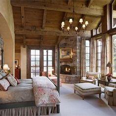 Gorgeous #rustic #bedroom #design!  Follow us on YouTube ( link in bio ) @HomeChannelTV