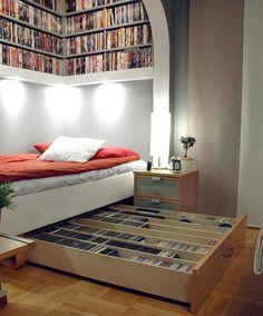 dormitoare mici design (8) Small bedroom decoration ideas.