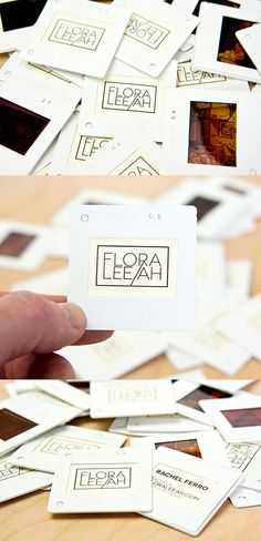 Unusual Vintage Film Negative Business Cards | Business Cards | The Design Inspiration
