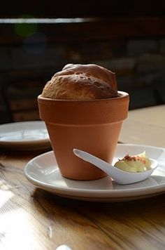 Terrain bread pots, served with whipped butter and Hawaiian salt
