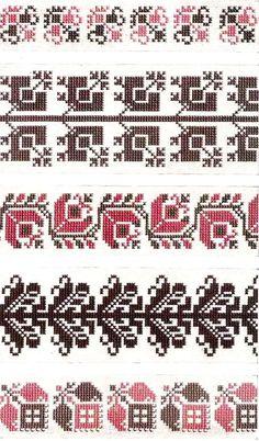 Motif Cross Stitch Borders, Cross Stitch Designs, Cross Stitching, Cross Stitch Patterns, Embroidery Applique, Cross Stitch Embroidery, Embroidery Patterns, Fair Isle Knitting Patterns, Loom Patterns