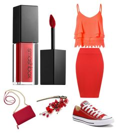"""Red"" by ilovegot-7 ❤ liked on Polyvore featuring WearAll, Glamorous, Converse, TravelSmith and Smashbox"