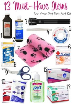 13 Must-Have Items For Your Pet First-Aid Kit | http://www.thelazypitbull.com/2015/03/pet-first-aid-kit/