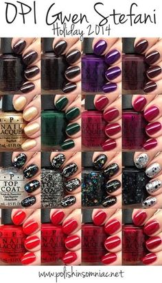 Gwen Stefani for OPI holiday 2014 collection. I want them all.