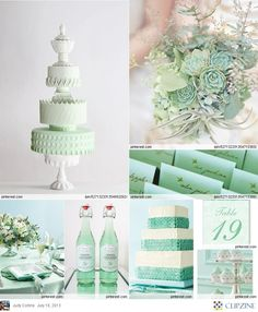 Mint Green Wedding Table #Mint / pastel green Wedding Reception ... Wedding ideas for brides, grooms, parents & planners ... https://itunes.apple.com/us/app/the-gold-wedding-planner/id498112599?ls=1=8 … plus how to organise an entire wedding ♥ The Gold Wedding Planner iPhone App ♥