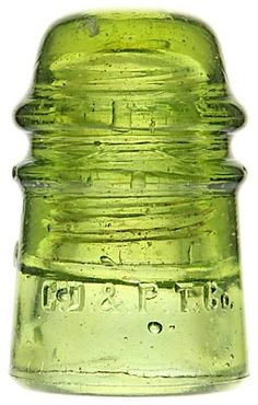 CD 121 C.D.& P.TEL.CO. Olivey Yellow Green; Tough and desirable color!