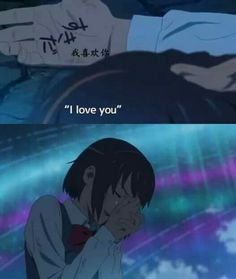 Kimi No Na Wa is overrated altho it's drawing was I think everything went so fast and I couldn't catch emotions. That's why I like Koe No Katachi more. I could catch the feelings and they were altho the drawing wasn't good as kimi no na wa's. Anime W, Art Anime, Anime Love, Kawaii Anime, Kimi No Na Wa, Mitsuha And Taki, Your Name Anime, Ken Tokyo Ghoul, Otaku