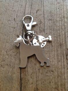 Schnauzer Custom Keychain Dog Lover by tagsoup on Etsy