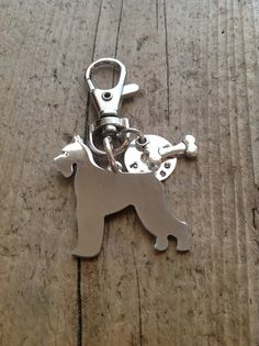 Schnauzer Custom Keychain Dog Lover by tagsoup on Etsy