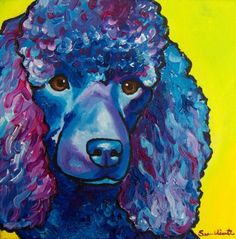 Poodle 10x10 print This is a 10x10 photo print of my original acrylic painting. Printed on high quality lustre archival photo paper. Each print