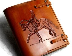 """7""""x9"""" Personalized Gift Horse  Leather Journal Notebook Diary Brown Leather Custom Journal Gift for Him Gift for Her TiVergy Book by TiVergy on Etsy"""