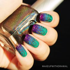 Messy Mansion Plate MM14 - stamping with gold Color Club in 'Beyond' from the Halo Hues collection.