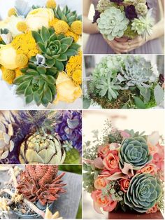 Succulent bouquets are a great alternative to traditional bouquets and will last a bit longer as well!