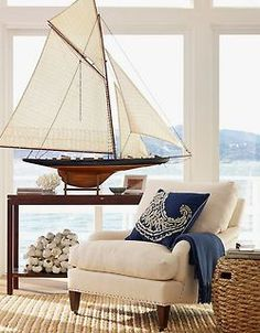 Wohnzimmer im modernen Landhausstil, Hampton Style, Farmhouse Style Living room in modern country house style, Hampton Style, Farmhouse Style Coastal Cottage, Coastal Homes, Coastal Style, Coastal Living, Coastal Decor, Cottages By The Sea, Beach Cottages, Deco Marine, Dream Beach Houses