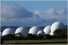 RAF Menwith Hill near Harrogate in North Yorkshire, England is the largest electronic monitoring station in the world.