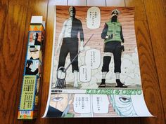 NARUTO Uzumaki NINJA Japan Hot Anime KAKASHI & OBITO A3 Poster Tokyo Limited