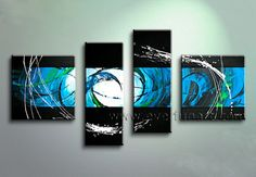 4 pieces Canvas Painting Art Hand-painted Modern Abstract Oil Painting On Canvas Wall Art Gift No Framed Decoration room Oil Painting Abstract, Abstract Wall Art, Canvas Wall Art, Canvas Walls, Painting Art, Canvas Frame, Modern Canvas Art, Contemporary Wall Art, Modern Art