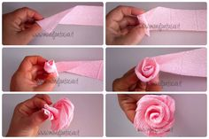 Fantastic diy hacks information are available on our web pages. Read more and yo… - DIY Blumen Wine Bottle Crafts, Mason Jar Crafts, Mason Jar Diy, Flower Crafts, Diy Flowers, Fabric Flowers, Tissue Paper Flowers, Crepe Paper Roses, Streamer Flowers