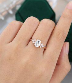 Beautiful Engagement Rings, Rose Gold Engagement Ring, Wedding Engagement, Moissanite Engagement Rings, Vintage Gold Engagement Rings, Vintage Anniversary Rings, Oval Cut Engagement Rings, Wedding And Engagement Rings, Petite Engagement Ring