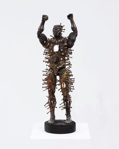 Power figures for the American Negro series by Olu Seye #art #sculpture #blackpanther