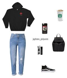 Untitled #104 by jaytranx on Polyvore featuring polyvore WithChic Vans Mansur Gavriel Miu Miu Beekman 1802 fashion style clothing