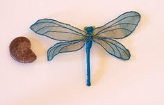 Soft Sculpture Dragonfly Wall Decoration Fiber Art Insect Natural History Gift Nature Lover Gift Entomology Gift Woodland Gift Under 50