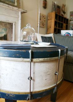 another drum-table... IN LOVE with this idea!