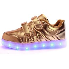 444cb460b6783 US 18.88 - Kids LED Light Shoes Sneakers Leather Casual Boy Girl Shoes  Children New