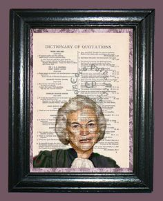 Susan Day O'Connor Supreme Court Judge  Vintage by CocoPuffsArt, $9.99