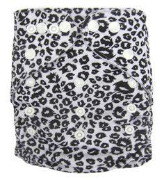 """AnAnBaby Pocket """"Black and White Cheetah"""""""