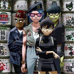 Gorillaz Noodle, Gorillaz Fan Art, Monkeys Band, Tea Art, Image Manga, Foo Fighters, Room Posters, Music Stuff, Music Lovers