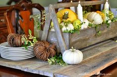Make A Fast And Easy Rustic And Elegant Fall Centerpiece
