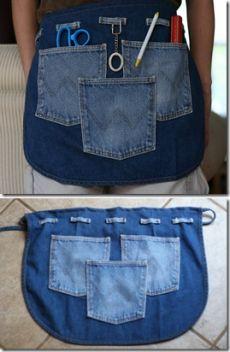 Фартук из старых джинсов / KNITLY.com - блог о рукоделии, мастерклассы