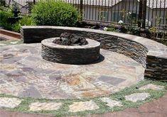 Round Stone Fire Pit  Fire Pit  Designs by Shellene  San Diego, CA