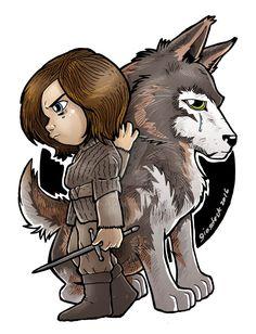 Stark Kids Arya Stark by giosdesk