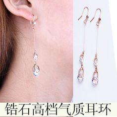 2014 Fashion Earring Crystal Drop Earring Elegant Earring With Zircon Hook $7.99