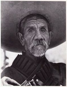 """Burned Cartridge"", Morelos, Mexico, 1970. Mexican Revolution's Zapatista veteran.  By Héctor García (1923-2012)... ~D~"