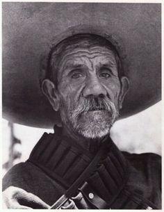 """""""Burned Cartridge"""", Morelos, Mexico, 1970. Mexican Revolution's Zapatista veteran.  By Héctor García (1923-2012)... ~D~"""