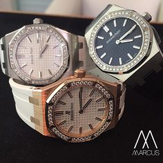 The ladies Audemars Piguet Royal Oak 33mm Quartz collection.