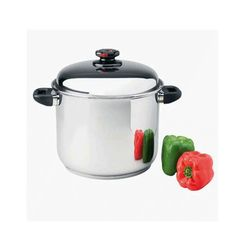 The Precise Heat Large Steam Control Stock Pot holds 12 quarts. Steam Seafood, Control Valves, Learn To Cook, No Cook Meals, Healthy Cooking, Sauces, Pots, Stainless Steel, Base