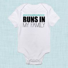 Awesomeness, Funny Baby Clothes, Cute Trendy Toddler Gift, New Baby New Mom