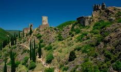 La Montagne Noire - France in a time warp... it could still be the 1950s, with few ATMs and petrol stations, but plenty of rural charm, chatty locals and trout-filled streams. The image is the castle ruins at Lastours in France's Montagne Noire.