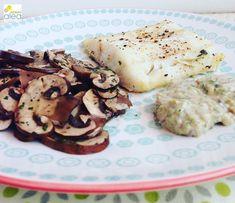 Bacalao con salsa tártara y champiñones al ajillo - La dieta ALEA -  blog de nutrición y dietética, trucos para adelgazar, recetas para adelgazar