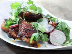Crispy Smoked Chicken Wings with Cilantro, Lime and Sriracha recipe