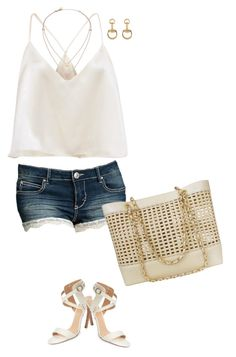 """""""Untitled #6483"""" by lisa-holt ❤ liked on Polyvore featuring Joe's, Chanel, Gucci and Michael Kors"""